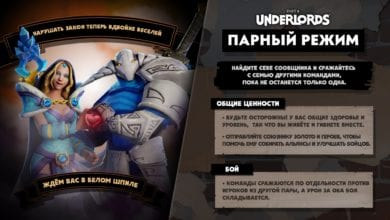 В рамках превью следующего обновления для Dota Underlors Valve представила 2 новых режима
