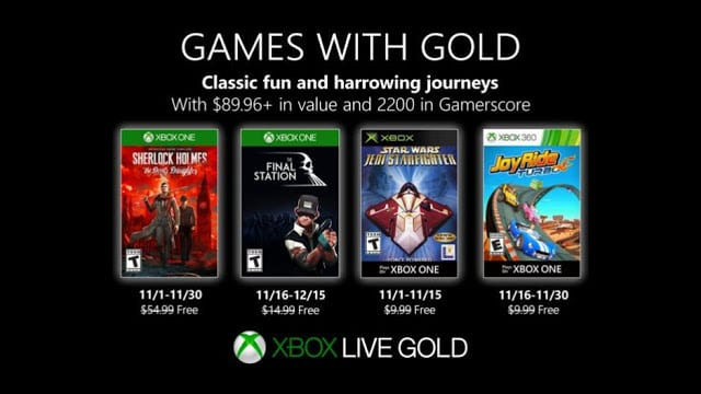 Опубликован список бесплатных игр в ноябре в Xbox Live Gold