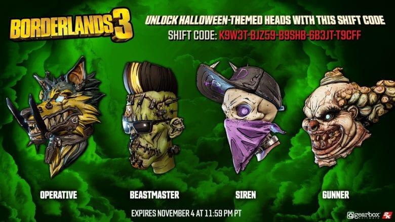Откройте набор жутких голов в Borderlands 3 с помощью этого кода