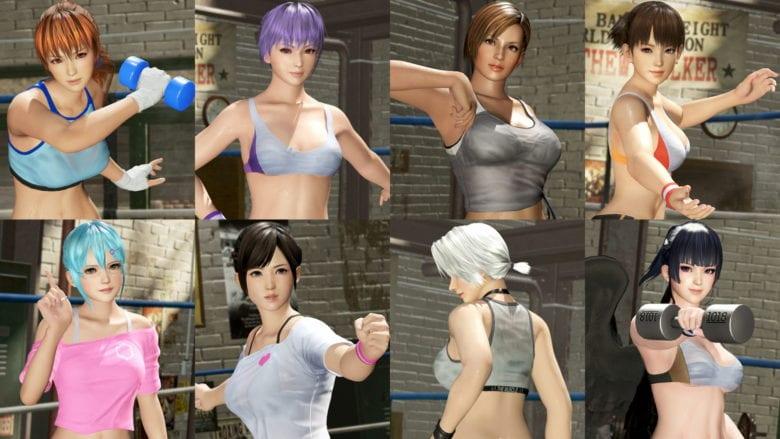 Вышло дополнение набор костюмов «Зарядись! Одежда для тренировок» для DOA6
