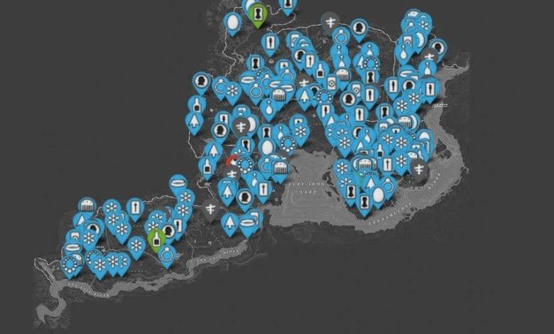 Интерактивная карта Red Dead Redemption 2