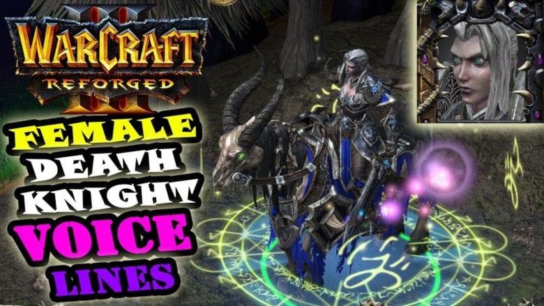 Рыцарь смерти стал женщиной в Warcraft III: Reforged
