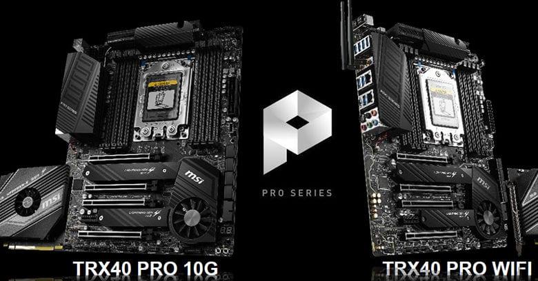 С материнскими платами MSI на базе чипсета AMD TRX40 можно создавать шедевры