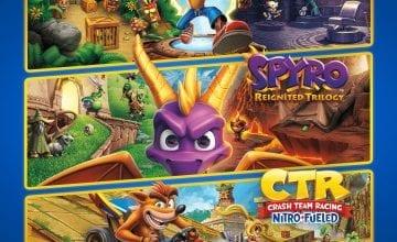 Тройной набор Crash™ + Spyro™ стал доступен на PlayStation