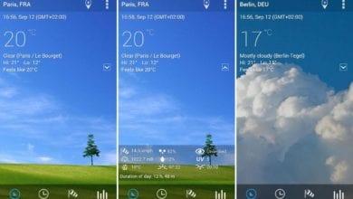 """Описание приложения """"Прозрачные часы и погода"""" для мобильных устройств на Андроиде"""