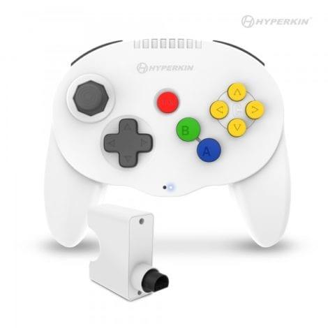 Admiral Premium BT Controller for N64® (White) - Hyperkin