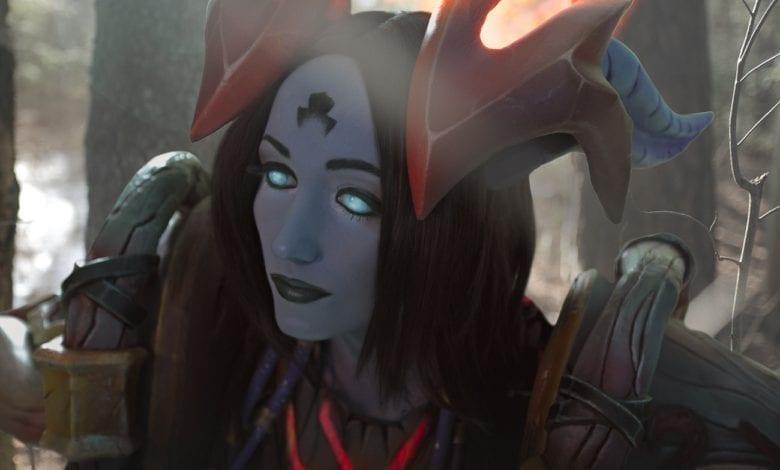 Косплей Draenei (World of Warcraft) – Green [Feyische] Fairy