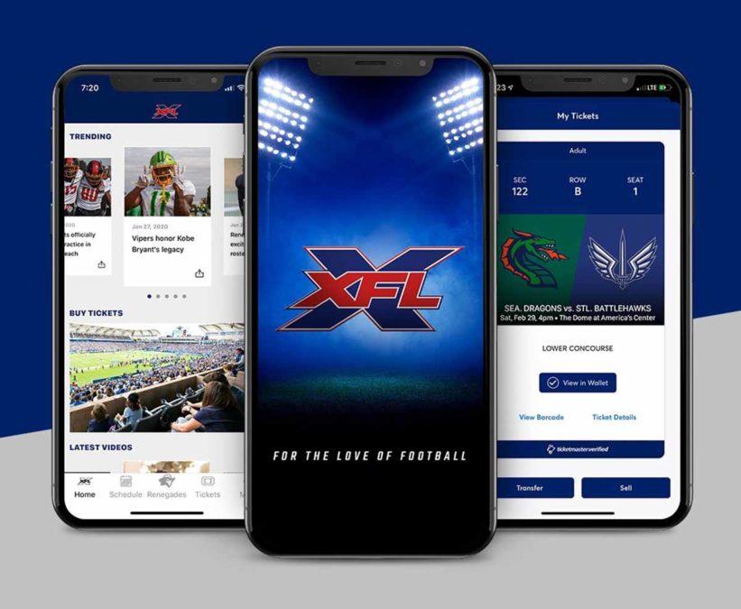 Для iOS и Android стало доступно приложение PlayXFL и XFL (Новой профессиональной футбольной лиги)