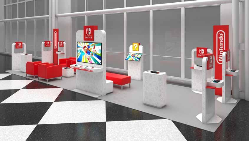 Залы отдыха Nintendo Switch теперь доступны в аэропортах США