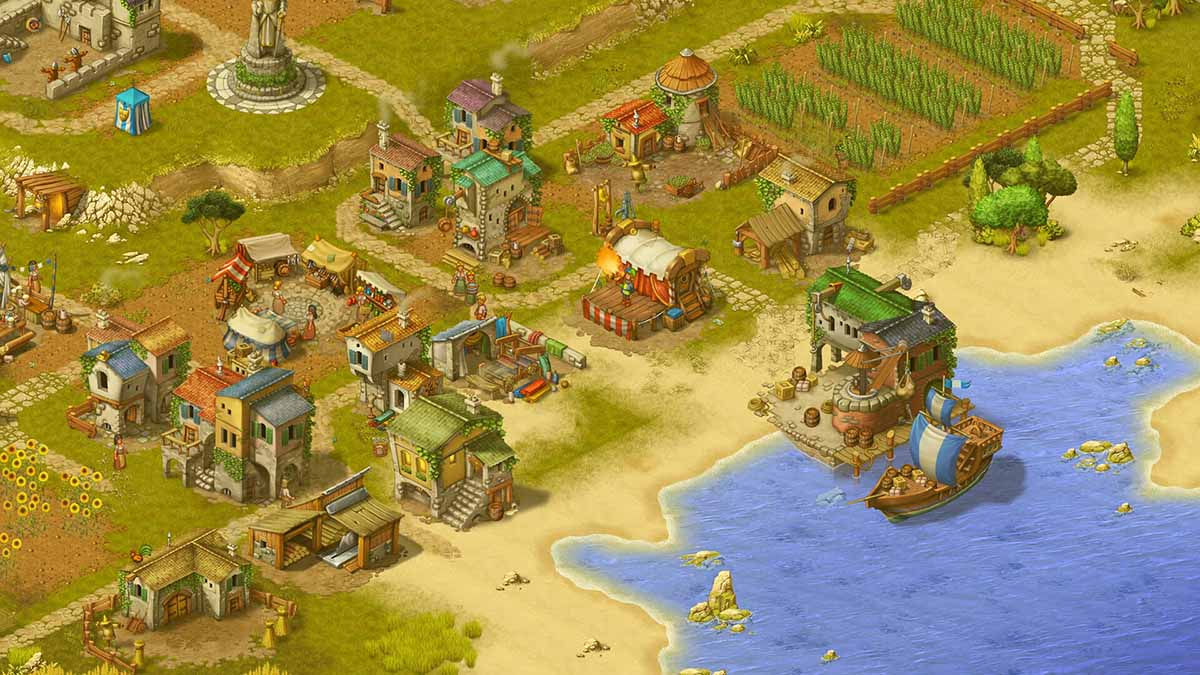 Игра Townsmen - A Kingdom Rebuilt вышла на PS4 и Xbox One