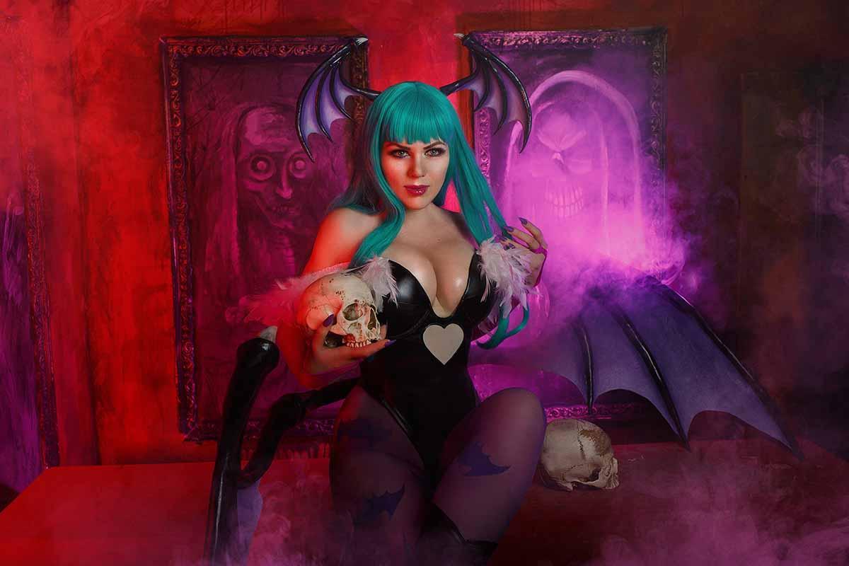 Косплей Морриган и Лилит (Darkstalkers) – Алиса Арефьева и Алена Сысуева (Грищенко)