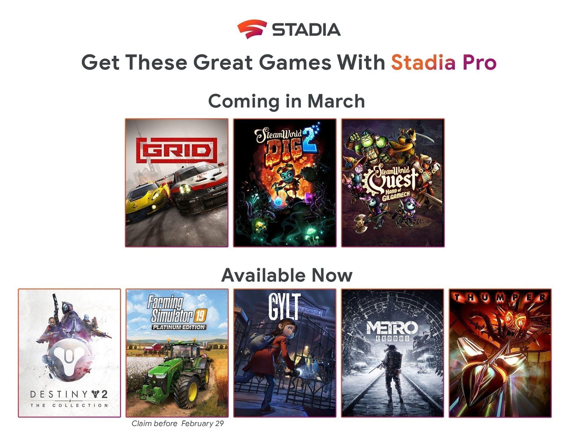 Photo of Мартовская подборка игр для Stadia Pro