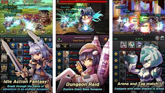 Независимый разработчик LinkTown выпустил свою новую игру Dungeon iDoll: Idle Action RPG