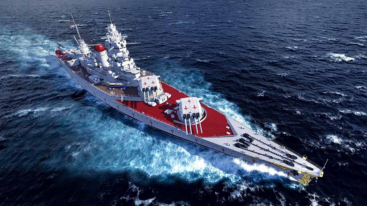 Dunkerque от Azur Lane добавляет ярких аниме-красок в World of Warships: Legends