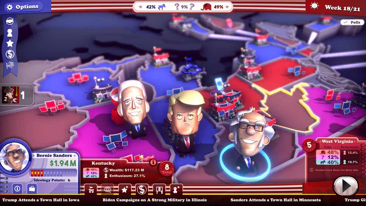Вышла политическая стратегическая игра The Political Machine 2020