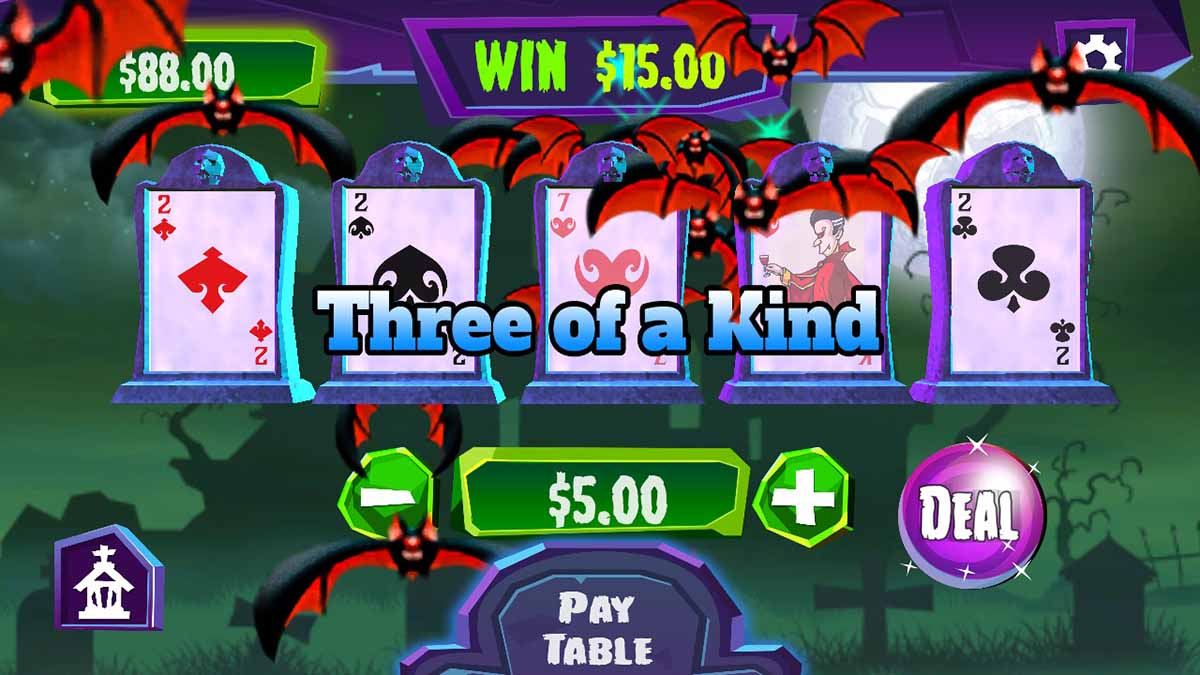 Игра Video Poker @ Aces Casino на Nintendo Switch