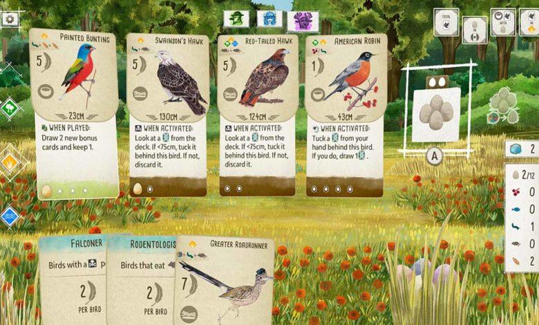 Wingspan - расслабляющая карточная стратегическая игра о птицах взлетает на Nintendo Switch