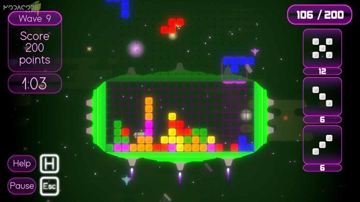 Аркадная головоломка Minoes с сочетанием тетриса, три в ряд, и кубика Рубика