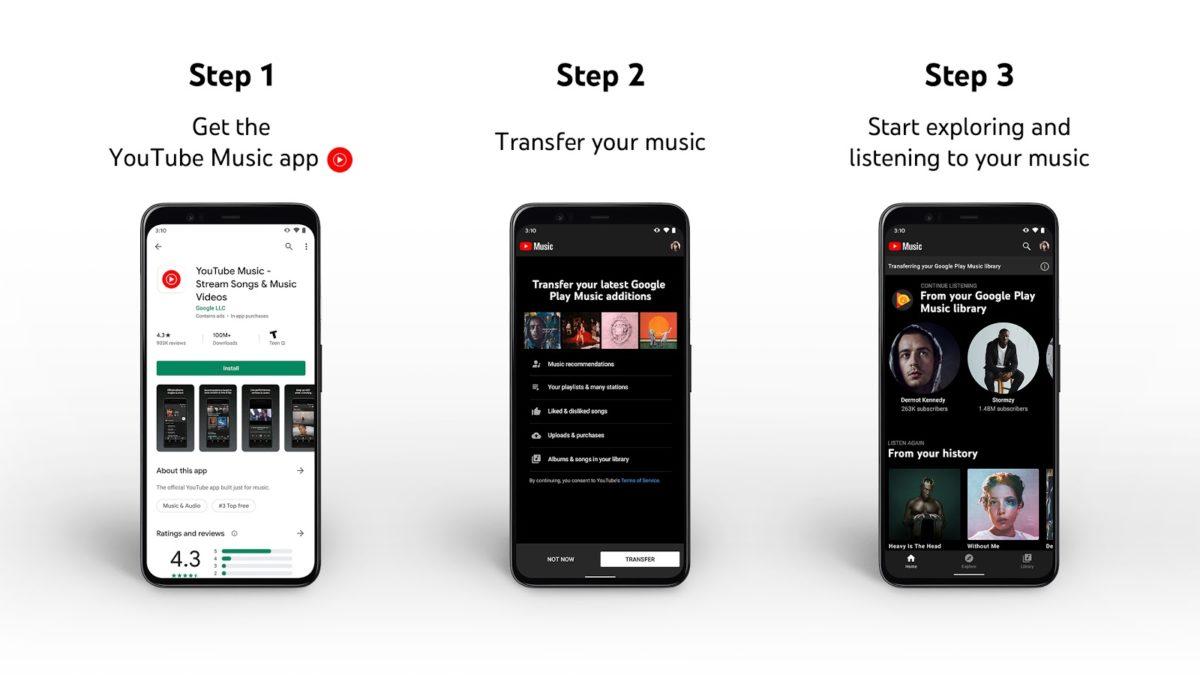 Заместо Google Play Music теперь YouTube Music (Подробности)