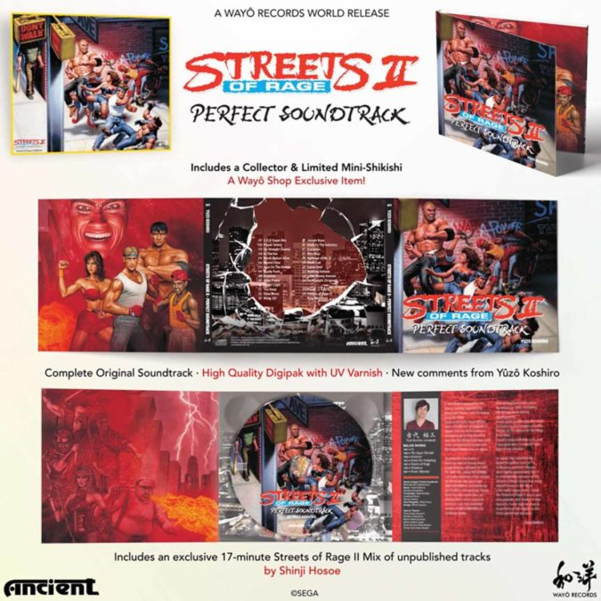 Переиздание саундтреков Streets of Rage на CD