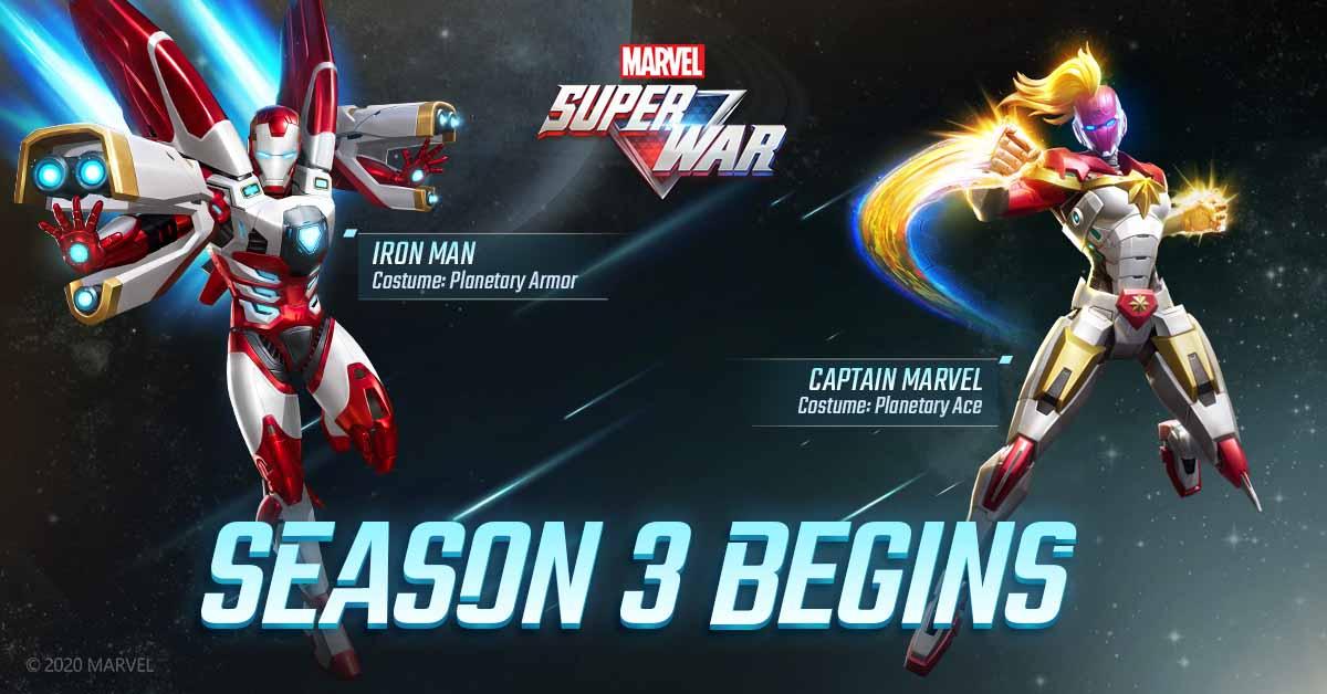 В MARVEL Super War 3 сезон начинается с оригинальной космической брони для Iron Man и Captain Marvel