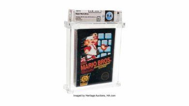 Картридж для видеоигр Super Mario Bros. 1985 года был продан за 114 000 долларов США