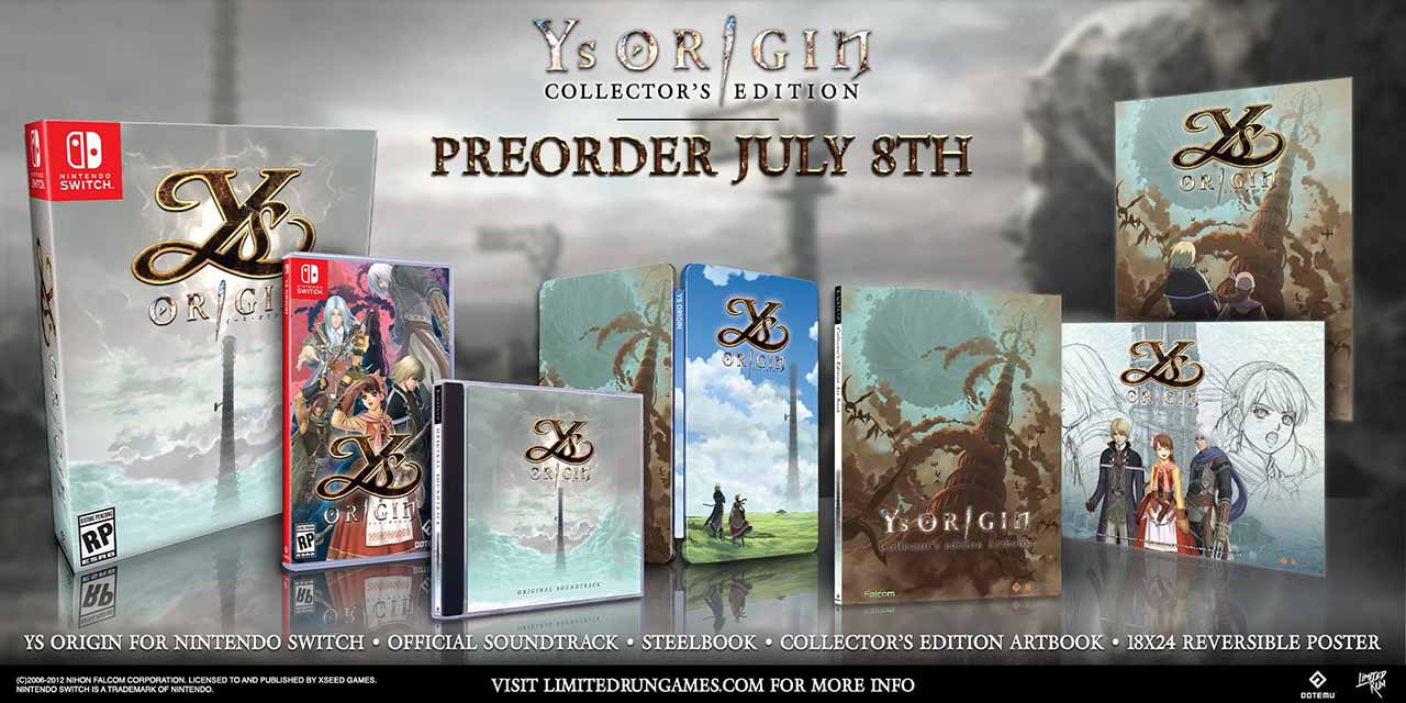 Photo of Культовая классическая RPG с уничтожением демонов Ys Origin выйдет на Nintendo Switch в 2020 году, и получит физические выпуски и коллекционное издание