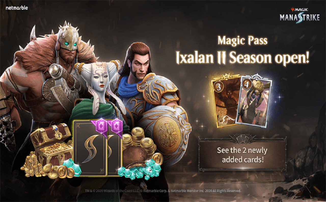 В Magic: ManaStrike добавили новые награды Magic Pass и две карты юнитов во втором сезоне Иксалана