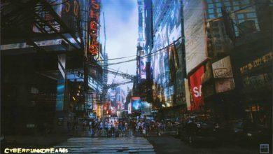 Photo of cyberpunkdreams окунет вас в город сверкающих корпоративных башен и урбанистического упадка