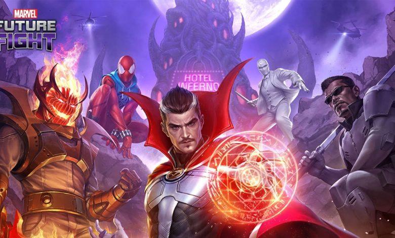 Герои и злодеи спасают Лас-Вегас в новом обновлении, вдохновленном комиксами Damnationдля MARVEL FUTURE FIGHT