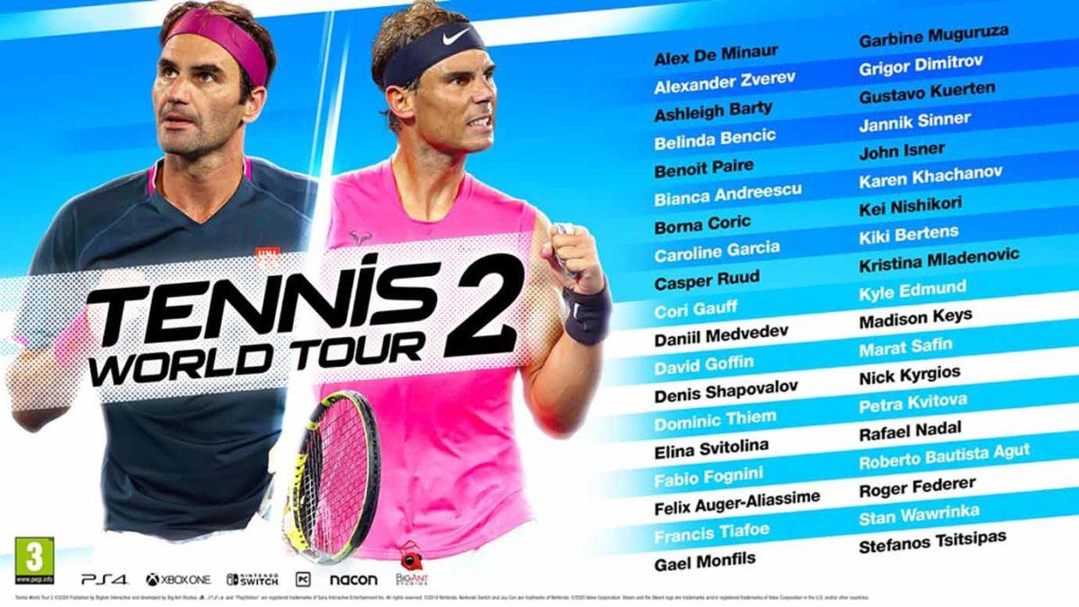 Раскрыт список 38 теннисистов доступных в Tennis World Tour 2