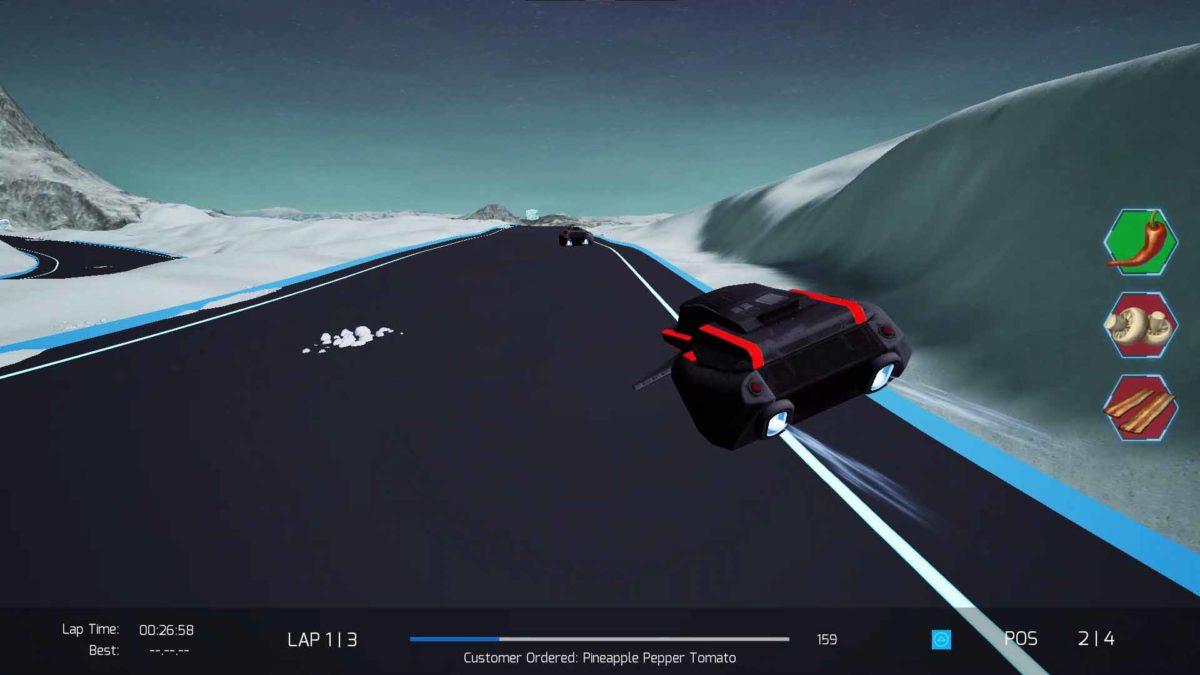 Cygnus Pizza Race Season 2, аркадная научно-фантастическая локальная многопользовательская гоночная игра, выйдет в Steam и VoxPop 12 февраля