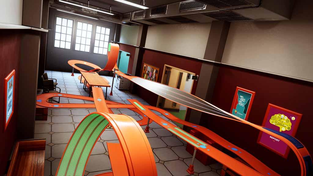 Новое игровое видео Hot Wheels Unleashed показывает новую среду: кампус колледжа