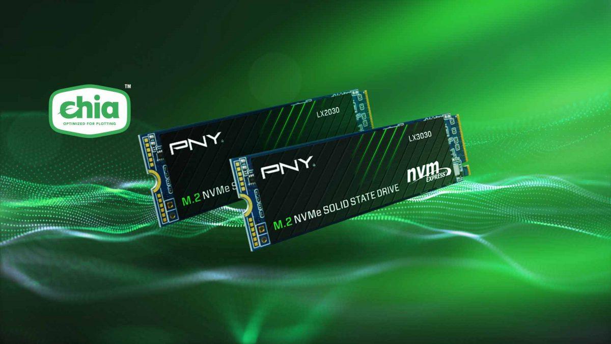 Представлены PNY LX2030 и LX3030 M.2 NVMe специальные SSD для майнинга