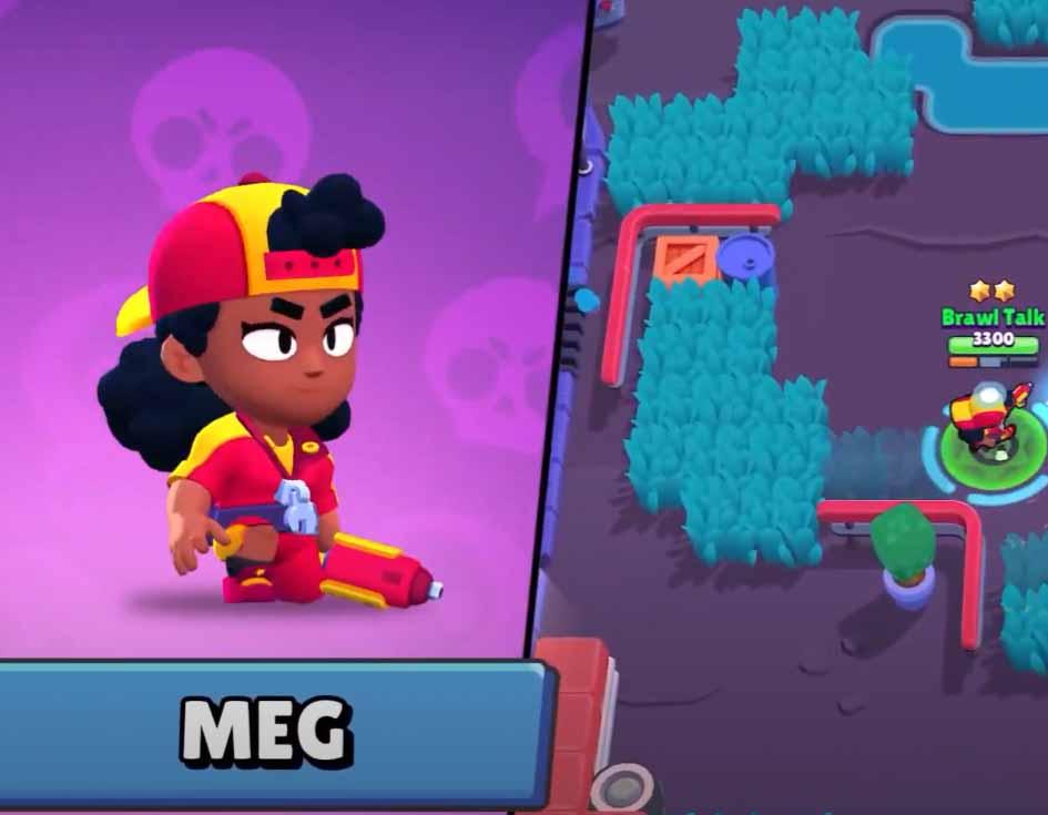 Новый легендарный бравлер MEG (Мег)