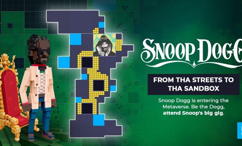 The Sandbox сотрудничает со Снуп Доггом, чтобы перенести легендарную икону в Метавселенную